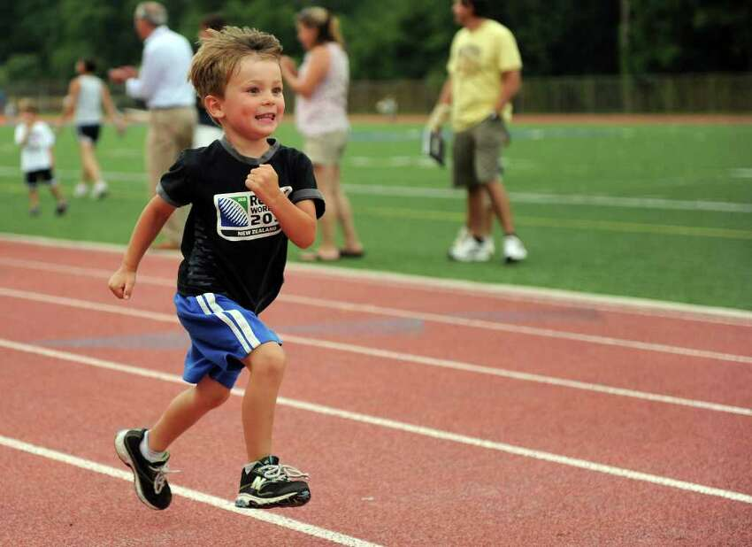 Thursday's Westport Age Group Track Meet at Staples High School on July 7, 2011.