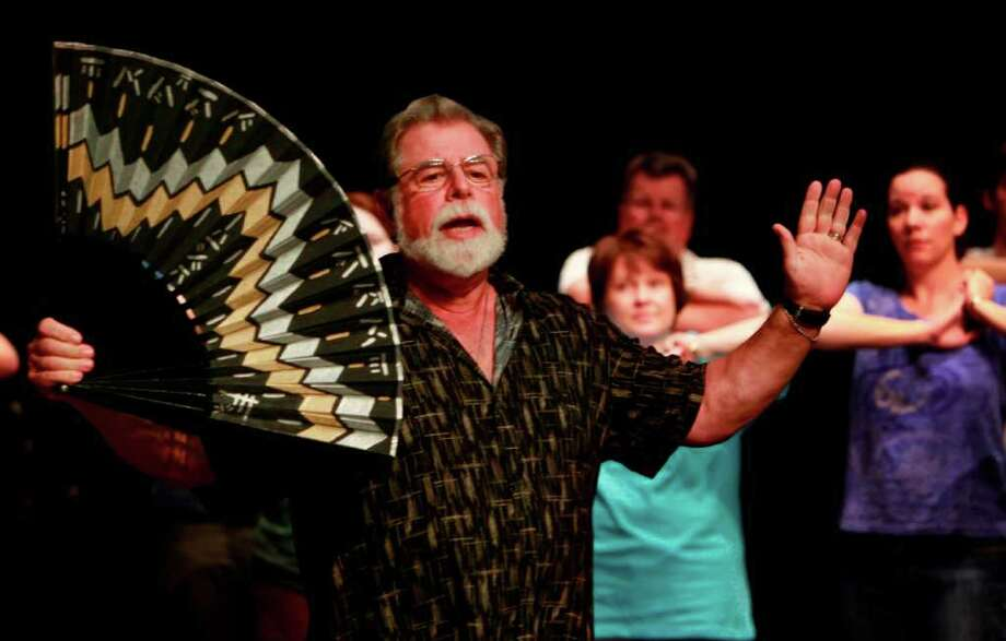 Ralph Katz rehearsing for the role of The Mikado at the Kinkaid School Theater on Sunday, July 3, 2011, in Houston.  ( Mayra Beltran / Chronicle ) Photo: Mayra Beltran, Staff / © 2011 Houston Chronicle
