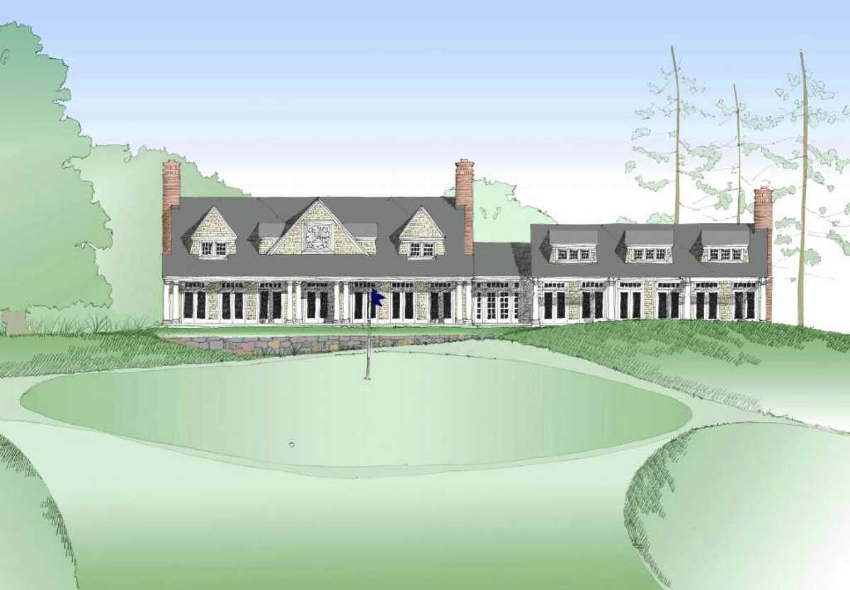 Artist rendering of the proposed main building at Sterling Farms golf course. The Stamford Golf Authority is seeking approval this week to demolish the existing building.