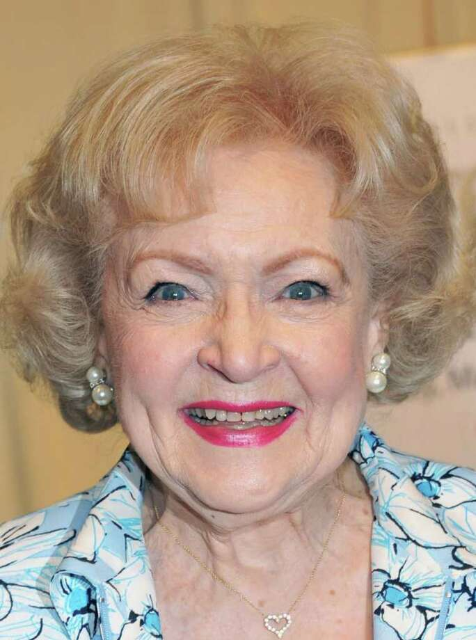 "NEW YORK, NY - MAY 06:  Actress Betty White signs copies of ""If You Ask Me (And Of Course You Won't)"" at Barnes & Noble, 5th Avenue on May 6, 2011 in New York City.  (Photo by Slaven Vlasic/Getty Images) *** Local Caption *** Betty White; Photo: Getty Images"