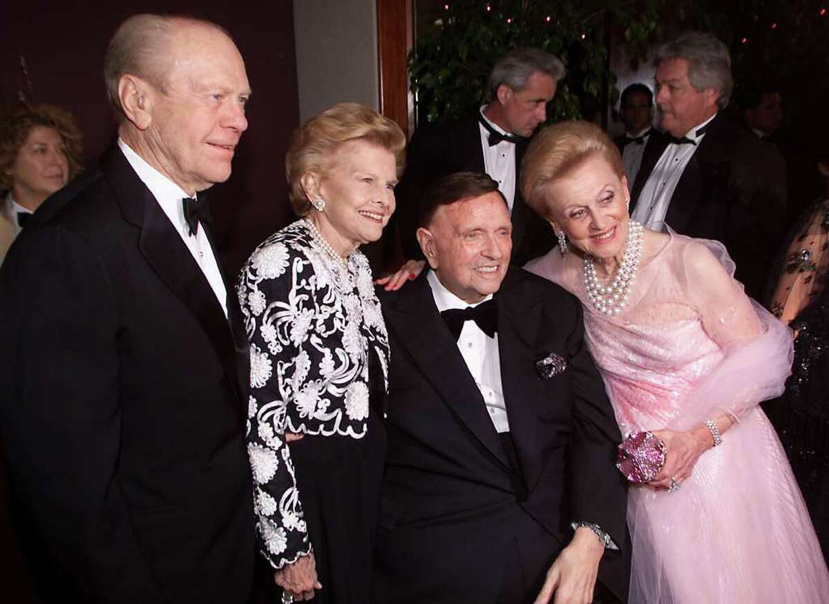 President and Mrs. Gerald Ford and Marvin and Barbara Davis at the 'Carousel of Hope 2000' gala to benefit the Barbara Davis Center for Childhood Diabetes at the Beverly Hilton Hotel in Los Angeles, Ca. 10/28/00. Photo by Kevin Winter/Getty Images.