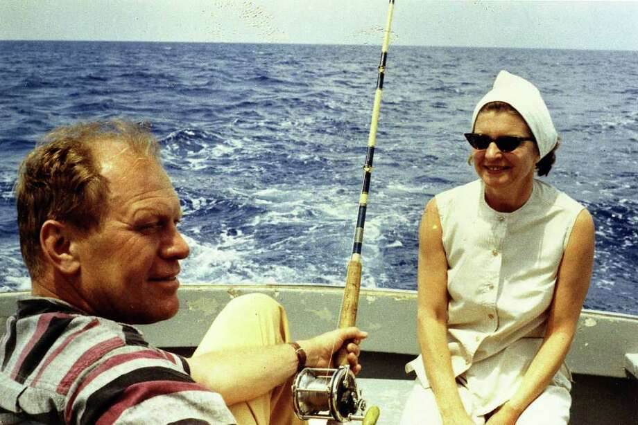 UNDATED;  Representative Gerald R. Ford relaxes with his wife Betty Ford while deep-sea fishing during a Caribbean vacation in this undated 1972 handout photo. he former President passed away at his home in California December 26, 2006. He was 93.    (Photo Courtesty of Gerald R. Ford Library via Getty Images) Photo: Handout, Getty Images / Getty Images