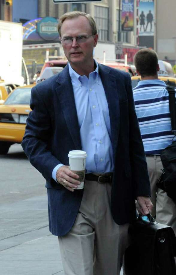 New York Giants owner John Mara enters a Manhattan law office, Friday, July 8, 2011, in New York. Members of the NFL Players' Association executive board and owners are meeting in hopes of resolving a lockout that began in March. (AP Photo/ Louis Lanzano) Photo: Louis Lanzano