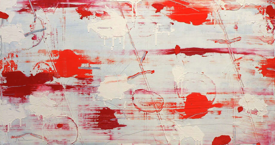 "Larry Graeber's ""Two Reds"" is featured in ""Margins"" at the UTSA Art Gallery. STEVE BENNETT / EXPRESS-NEWS"