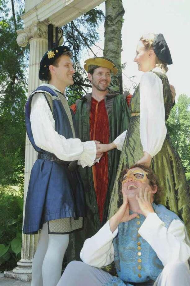 The Merchant of Venice  Photo Captions (Left to Right)  * indicates Actors? Equity member    Shylock?Lary Opitz*  Bassanio?Per Janson*  Antonio?Tim Dugan*  Portia?Hillary Parker*  Launcelot?David Girard*  (Courtesy Saratoga Shakespeare Company)