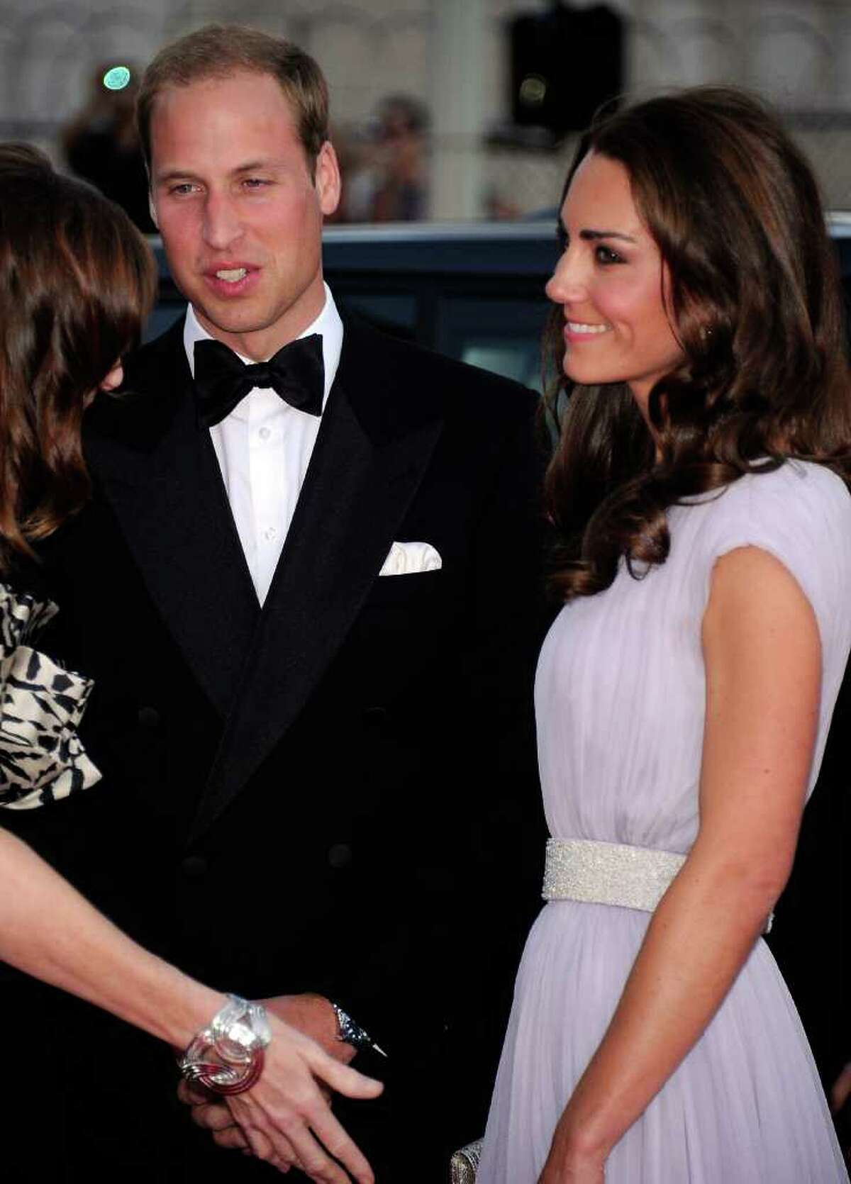 Prince William, Duke of Cambridge (L) and Catherine, Duchess of Cambridge arrive at the BAFTA Brits To Watch event held at the Belasco Theatre in Los Angeles on Saturday, July 9, 2011.