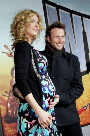 Actress Jenna Elfman and her husband Bodhi Elfman Photo: Reed Saxon, AP / AP