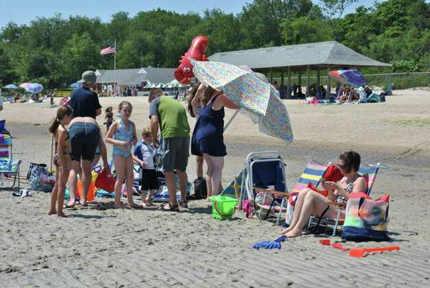 Sandblast Sand sculpture building contest happened at Greenwich Point on July 9, 2011. Photo: Lauren Stevens/Hearst Connecticut Media Group