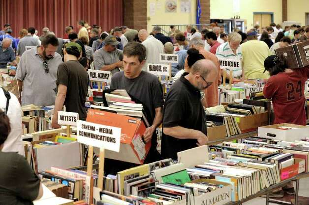 C.H. Booth library book sale, Newtown The 45th Annual Friends of the C.H. Booth Library book sale will take place all weekend long. Find out more. Photo: Michael Duffy