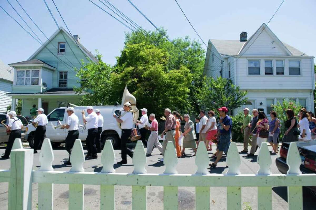 The Minturnese Social Club and Sacred Hearst Church hold the annual Festa de la Regna, or Festival of Wheat, celebrating harvest day with a parade on Schuyler Avenue July 10, 2011.