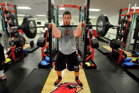 Now indoors, Lamar football players can keep weight