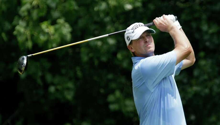 Steve Stricker watches his shot off the second tee during the final round of the John Deere Classic golf tournament at TPC Deere Run on Sunday, July 10, 2011, in Silvis, Ill. (AP Photo/Charlie Neibergall) Photo: Charlie Neibergall, STF / AP