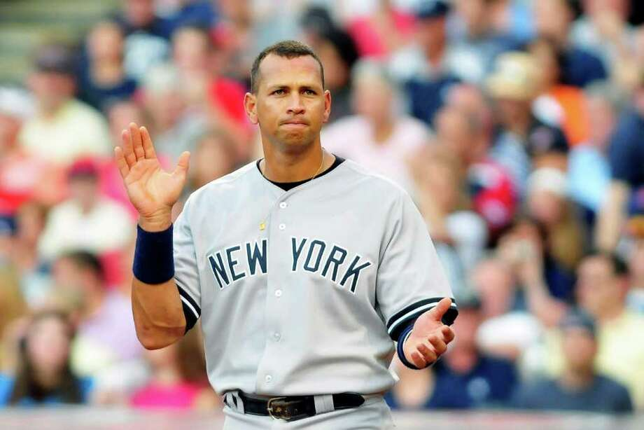CLEVELAND, OH - FILE: Alex Rodriguez #13 of the New York Yankees reacts after the end of the second inning against the Cleveland Indians at Progressive Field on July 6, 2011 in Cleveland, Ohio. It was reported that Yankees 3B Alex Rodriguez is to undergo knee surgery, and is expected to miss 4-6 weeks.  (Photo by Jason Miller/Getty Images) Photo: Jason Miller, Stringer / 2011 Getty Images