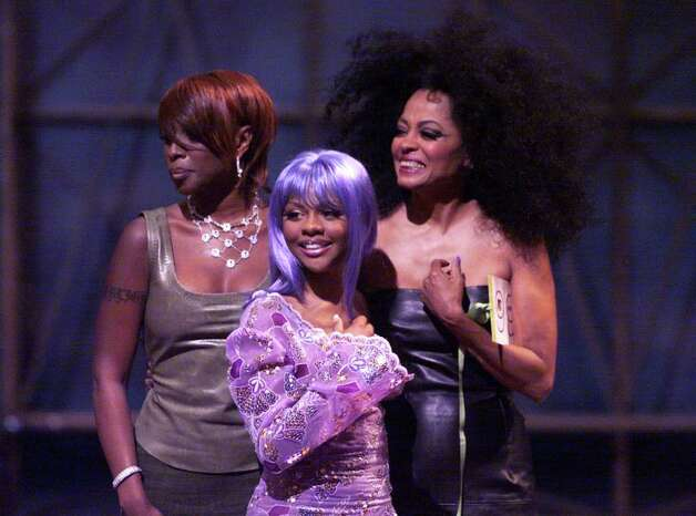Mary J. Blige( left), Lil' Kim (center), and Diana Ross presenting the award for Best Hip-Hop video during the 1999 MTV Music Video Awards at the Metropolitan Opera House, Lincoln Center in New York City on September 9, 1999. (Photo by Frank Micelotta/ImageDirect) Photo: Frank Micelotta, Getty Images / Getty Images North America