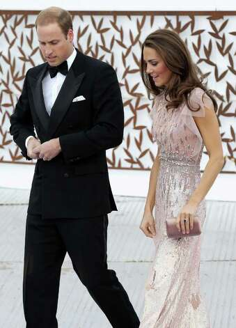 The Duchess dazzled in this shimmering Jenny Packham gown at the ARK 10th Anniversary gala in London. The gala marked her first formal appearance since becoming an official member of the Royal Family.  Photo: Chris Jackson, Getty Images / 2011 Getty Images