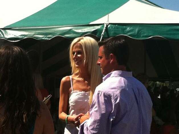 White House party crasher Michaele Salahi at the Greenwich Polo Club on July 10, 2011.