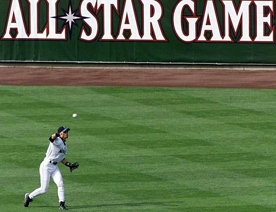 Ten years ago, the Major League Baseball All-Star Game was played at Safeco Field. The Mariners were on their way to a record 166 wins and had eight players on the American League squad -- Brett Boone, Mike Cameron, Freddy Garcia, Edgar Martinez, Jeff Nelson, John Olerud, Kaz Sasaki and Ichiro Suzuki. The game will also be remebered as Cal Ripken and Tony Gwynn's final Midsummer Classic. The American League won, 4-1. AFP PHOTO/Jeff HAYNES Photo: JEFF HAYNES, AFP/Getty Images / AFP