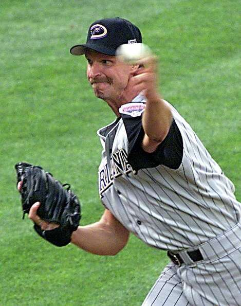 SEATTLE, UNITED STATES:  Starting National League pitcher Randy Johnson of the Arizona Diamondbacks