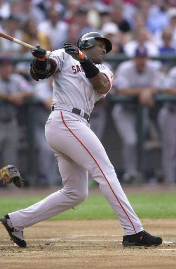 10 Jul 2001:  Barry Bonds of the San Francisco Giants bats for the National League during the 2001 Major League Baseball All-Star game at Safeco Field in Seattle, Washington, won by the American League 4-1. DIGITAL IMAGE Mandatory  Credit: Otto Gruele/Allsport Photo: Otto Greule Jr, Getty Images / Getty Images North America
