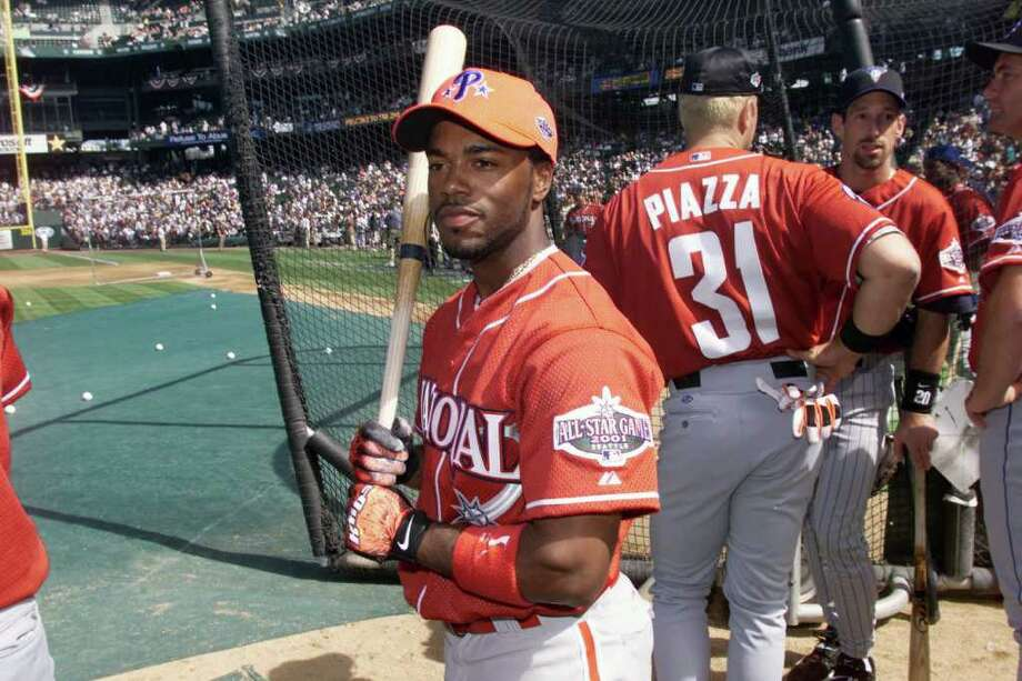 10 Jul 2001:  Jimmy Rollins of the Philadelphia Phillies during batting practice for the 2001 Major League Baseball All-Star Game at Safeco Field in  Seattle, Washington. DIGITAL IMAGE. Mandatory Credit:  Jed Jacobsohn/Allsport Photo: Jed Jacobsohn, Getty Images / Getty Images North America