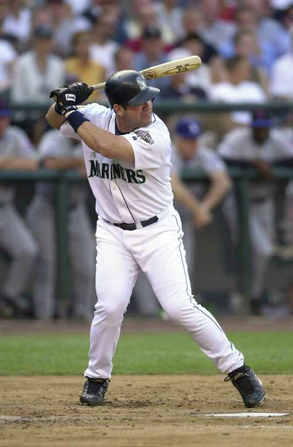 10 Jul 2001: Edgar Martinez of the Seattle Mariners bats for the American League during the 2001 Major League Baseball All-Star game at Safeco Field in Seattle, Washington, won by the American League 4-1. DIGITAL IMAGE Mandatory  Credit: Otto Gruele/Allsport Photo: Otto Greule Jr, Getty Images / Getty Images North America
