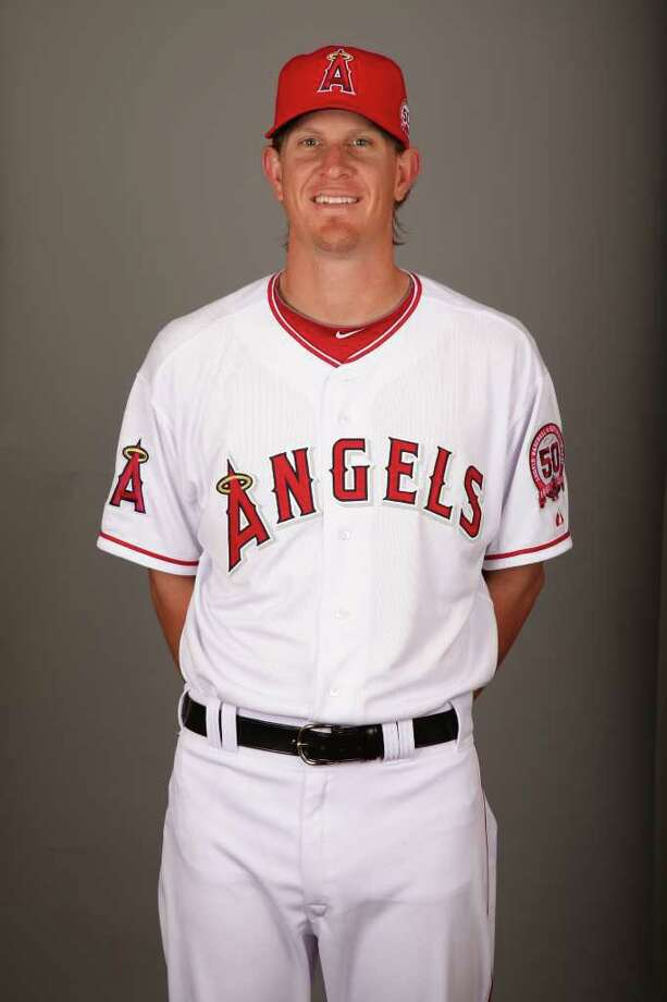 TEMPE, AZ - FEBRUARY 21: Jered Weaver (36) of the Los Angeles Angels of Anaheim poses during Photo Day on Monday, February 21, 2011 at Tempe Diablo Stadium in Tempe, Arizona.  (Photo by Jason Wise/MLB Photos via Getty Images) *** Local Caption *** Photo: Jason Wise, Stringer / MLB