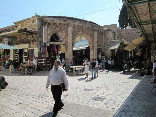 "Marketplace in Old City of Jerusalem. Mayor Julian Castro is leading a delegation of San Antonio business, utility and Jewish community leaders on an ""economic study mission"" to Israel. It is Castro's first trip to the Holy Land. Photo: TRACY IDELL HAMILTON, Express-News / SAN ANTONIO EXPRESS-NEWS"