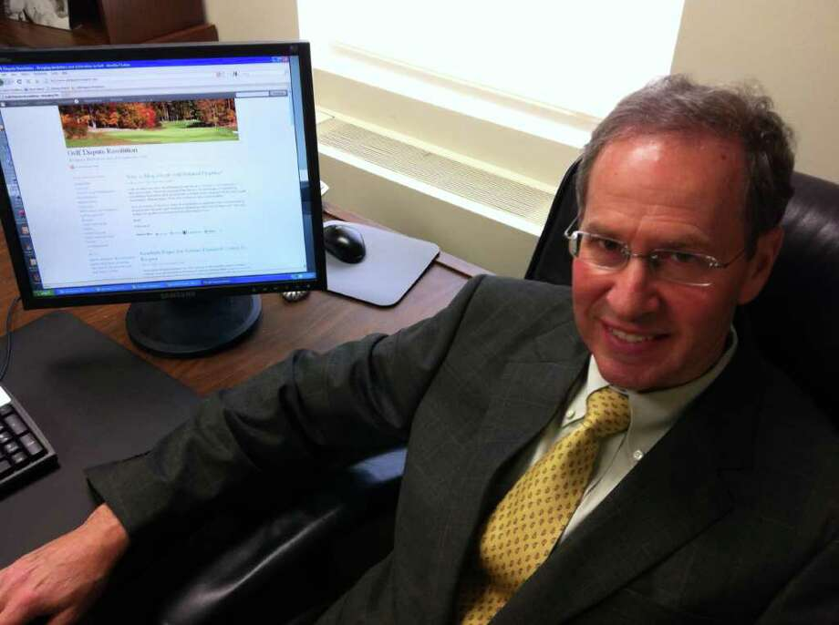Robert Harris, an attorney with Levett Rockwood PC in Westport, in May launched www.golfdisputeresolution.com, a website devoted to articles on legal disputes concerning the sport. Photo: Michael C. Juliano/ Staff Photo