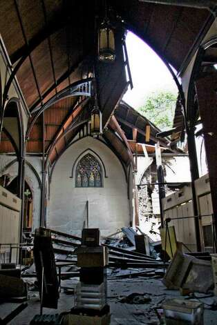 The interior of Trinity Church on Trinity Place, Albany on Tuesday, July 12, 2011. The church has suffered a series of recent structural collapses and crews are working to get the structure safely down . (Erin Colligan / Special To The Times Union)