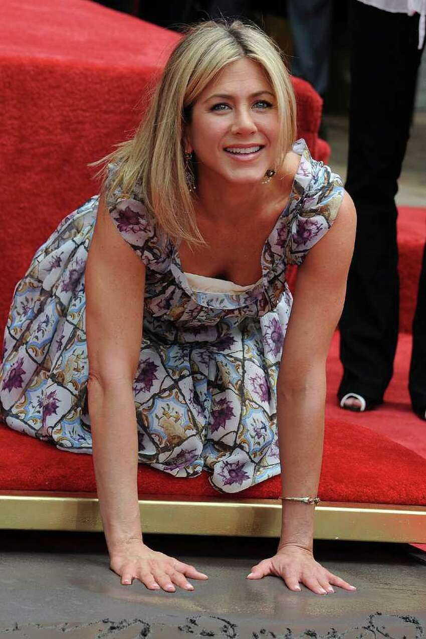 Actress Jennifer Aniston attends her Hand And Footprint Ceremony at Grauman's Chinese Theatre in Hollywood, California.