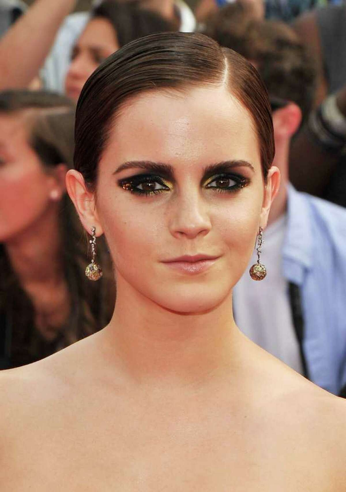 Actress Emma Watson attends the New York premiere of