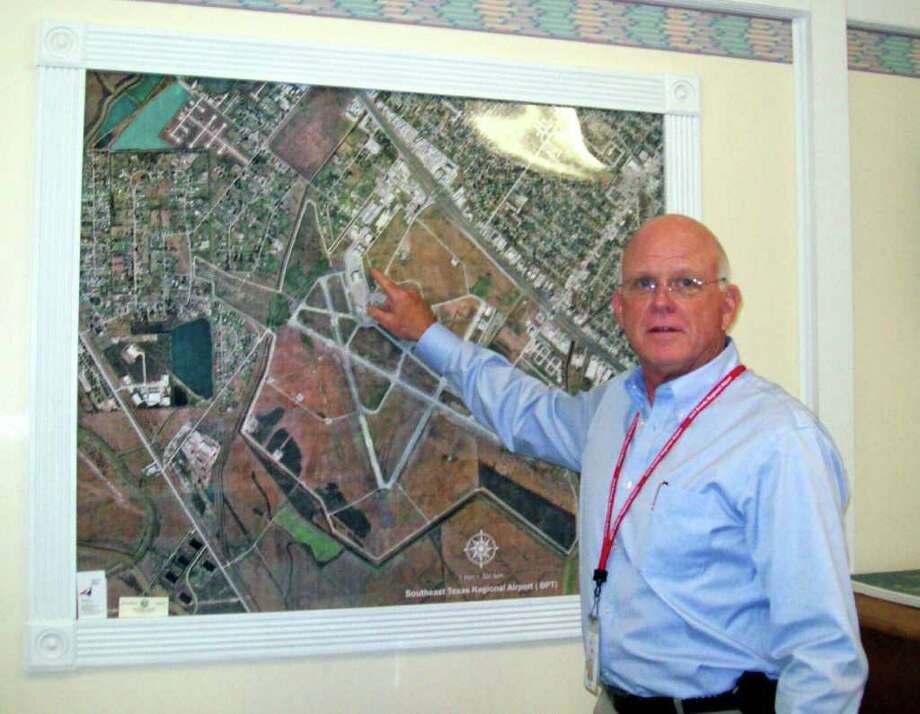 Hal Ross, who's been managing Jack Brooks Regional Airport since October, 2003, is retireing at the end of June. Sonja Garza/The Enterprise Photo: Sonja Garza