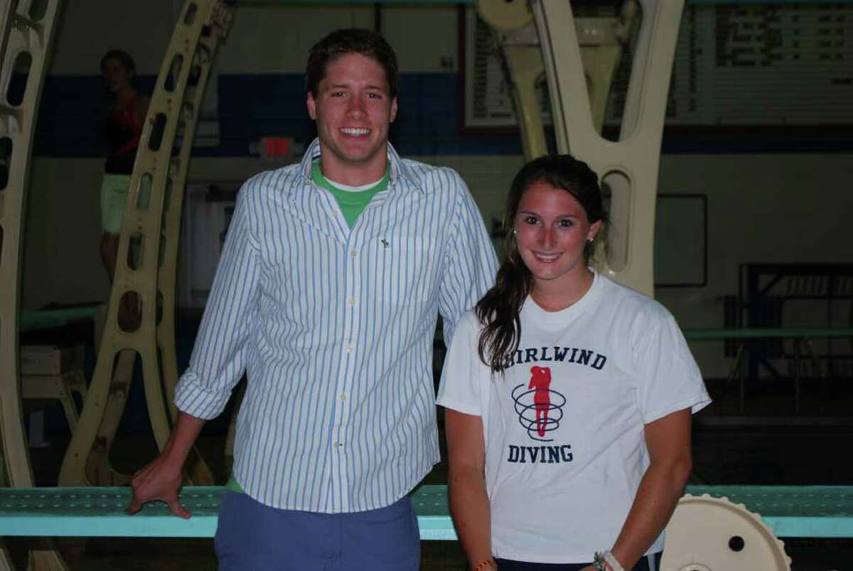 Jason Potter (swimming) and Amanda Molinelli (diving).