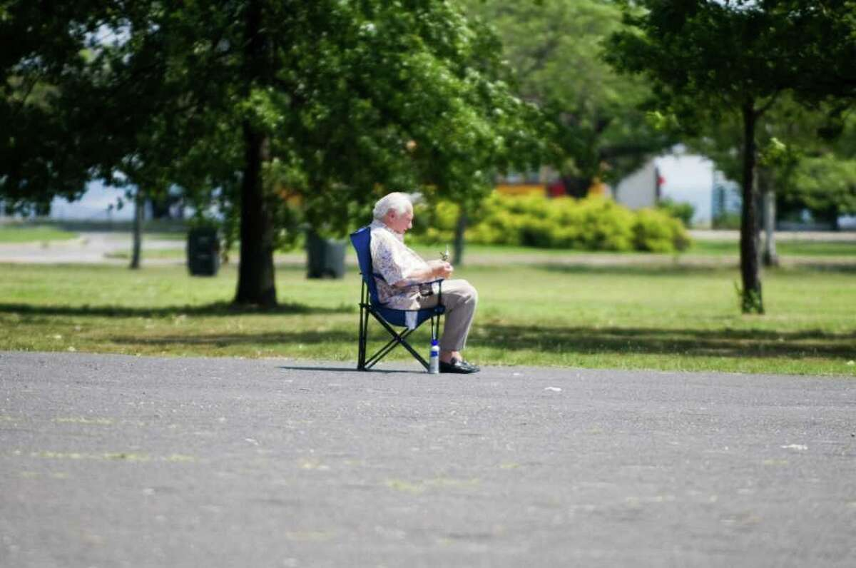 A heat wave drives temperatures up into the high 90s in Stamford, Conn., July 12, 2011.
