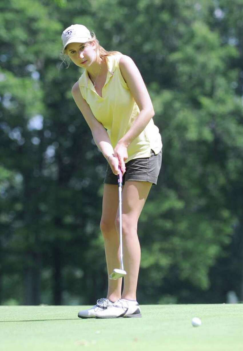 Leigh Wellington in action during the Women's Town Golf Tournament at Griffith E. Harris Golf Course, Greenwich, Tuesday afternoon, July 12, 2011. Wellington finished second in the Town-wide flight.