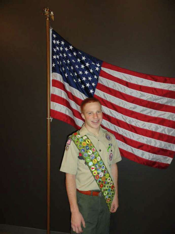 Matthew Miller, an Eagle Scout from Katy, has earned all of the 130 merit badges.  Matthew is also a Sea Scout, and he is one of only six sea scouts in the nation selected to sail about the USS Baruqe Eagle Photo: Courtesy