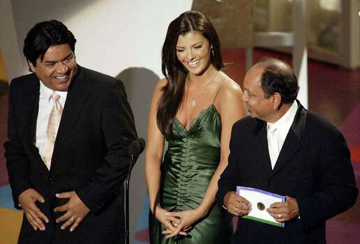 George Lopez, Ali Landry and Cheech Marin present at The 3rd Annual Latin Grammy Awards, held at the Kodak Theatre in Los Angeles, Ca., Sept. 18, 2002.  (photo by Frank Micelotta/ImageDirect) Photo: Frank Micelotta, Getty Images / Getty Images North America