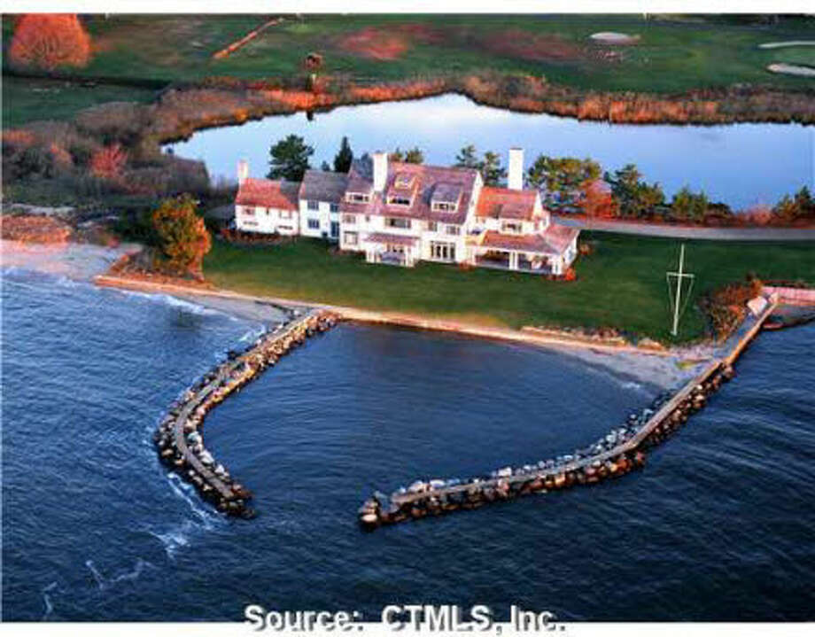 Located in Old Saybrook, CT, Katharine Hepburn's majestic former residence is on the market for $28M. Photo: Peter Farron