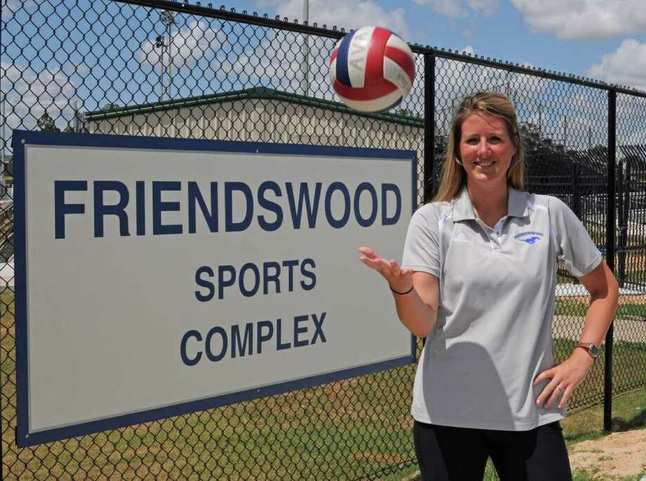 New Friendswood volleyball coach Kelly Beck at Friendswood High School on July 8, 2011. Beck is a 2004 Friendswood graduate (she was Kelly Stanton back then) who went on to play at Texas A&M and is now ready to lead the Lady Mustangs. Photo: L. Scott Hainline / freelance