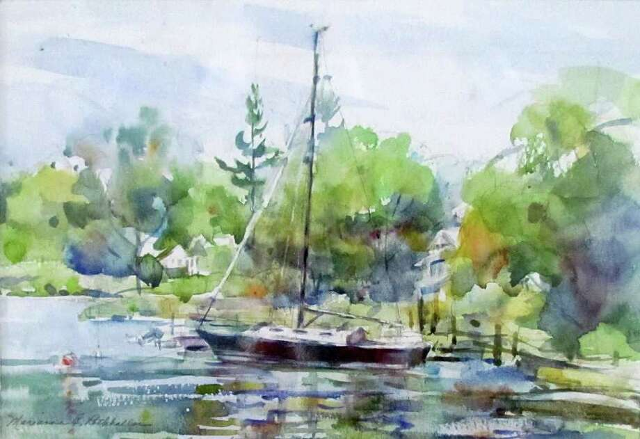 "Rowayton Harbor"" by Marianne Rothballer won first prize in the watercolor category. Photo: Contributed Photo / New Canaan News"