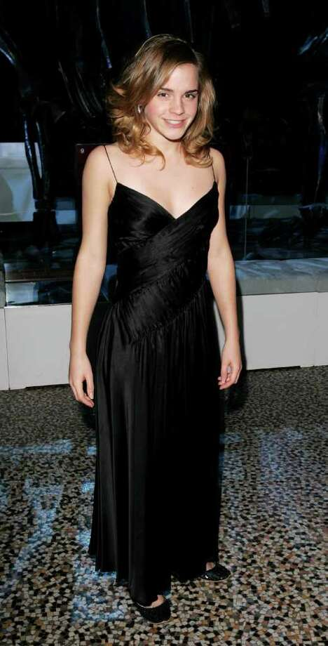 "Actress Emma Watson attends the party for the World Premiere of ""Harry Potter And The Goblet Of Fire"" at The Natural History Museum on November 6, 2005 in London, England. Photo: Dave Hogan, Getty Images / 2005 Getty Images"
