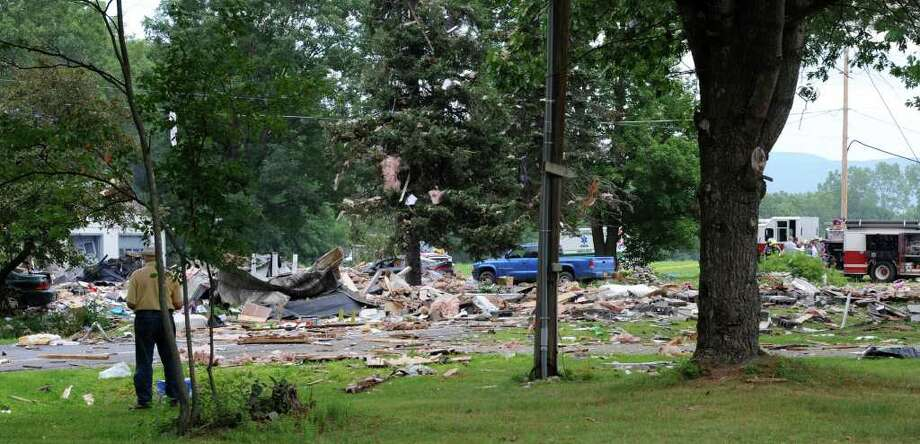 The scene of an explosion in Salem, N.Y., on July 13. (Skip Dickstein / Times Union) Photo: SKIP DICKSTEIN / 2011