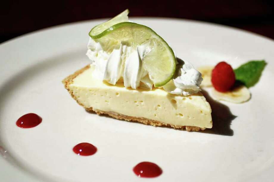 Banana Key Lime Pie at the new Tony Mandola's restaurant on Waugh near West Dallas, Friday, July 1, 2011, in Houston.  Tony Mandola's was on West Gray for about 25 years, but has recently moved and built a stand-alone building much larger than the previous restaurant and built from the ground up to begin a new chapter in the history of Tony Mandola's.    ( Michael Paulsen / Houston Chronicle ) Photo: Michael Paulsen, Staff / © 2011 Houston Chronicle