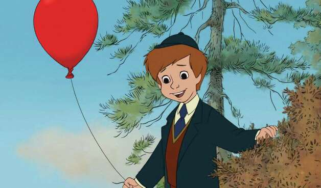 "In this film publicity image released by Disney, animated character Christopher Robin is shown in a scene from ""Winnie the Pooh."" (AP Photo/Disney Enterprises, Inc.)"