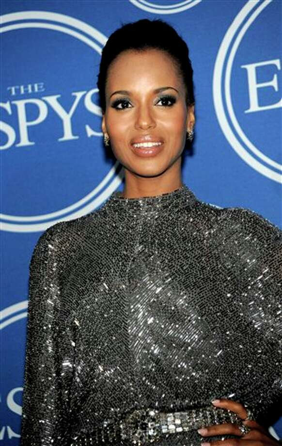 Kerry Washington is seen backstage at the ESPY awards on Wednesday, July 13, 2011, in Los Angeles. (AP Photo/Dan Steinberg) Photo: Associated Press