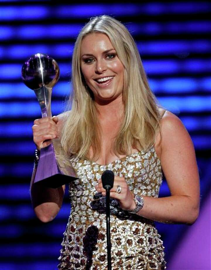 Lindsey Vonn accepts the award for Best Female Athlete at the ESPY Awards on Wednesday, July 13, 2011, in Los Angeles. (AP Photo/Matt Sayles) Photo: Associated Press