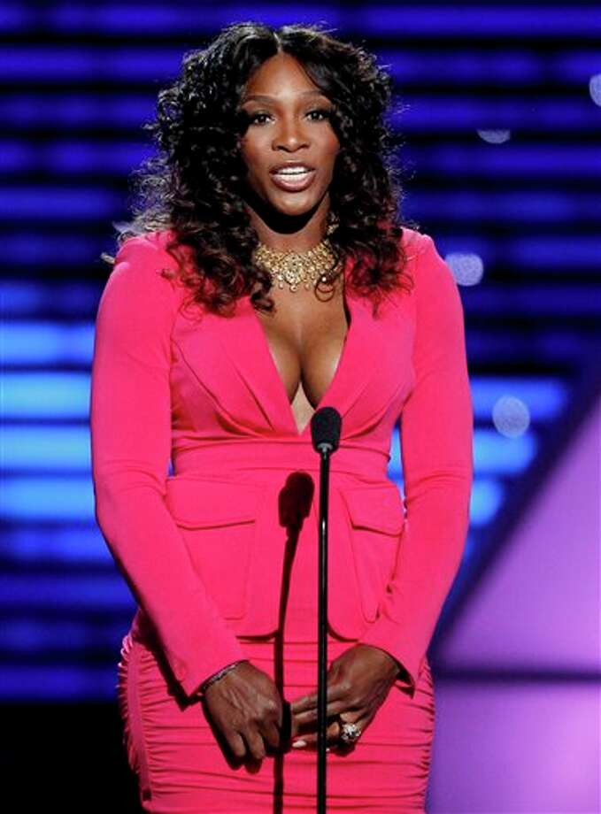 Tennis star Serena Williams speaks at the ESPY Awards on Wednesday, July 13, 2011, in Los Angeles. (AP Photo/Matt Sayles) Photo: Associated Press