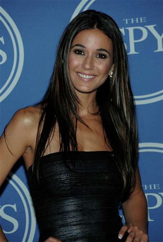 Actress Emmanuelle Chriqui backstage at the ESPY awards on Wednesday, July 13, 2011, in Los Angeles. (AP Photo/Dan Steinberg) Photo: Associated Press
