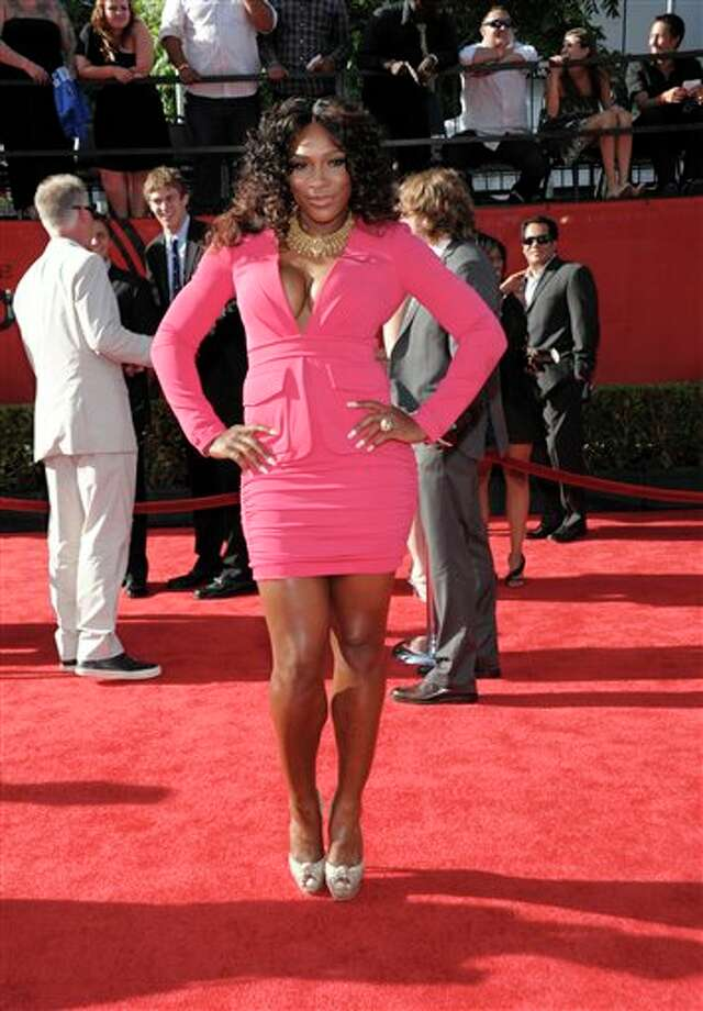 Tennis player Serena Williams arrives at the ESPY awards on Wednesday, July 13, 2011, in Los Angeles. (AP Photo/Dan Steinberg) Photo: Associated Press