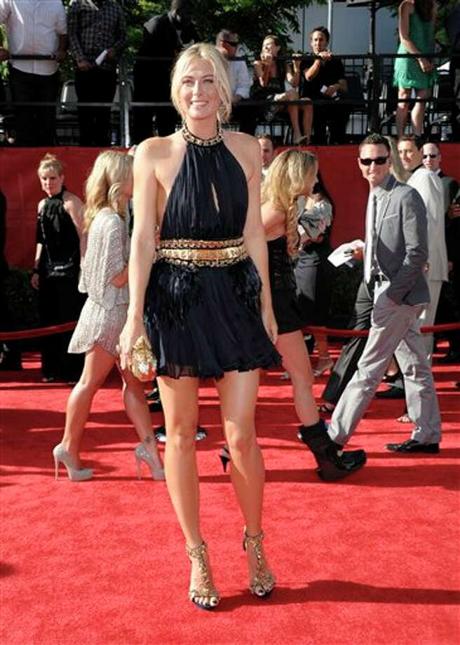 Tennis player Maria Sharapova arrives at the ESPY awards on Wednesday, July 13, 2011, in Los Angeles. (AP Photo/Dan Steinberg) Photo: Associated Press